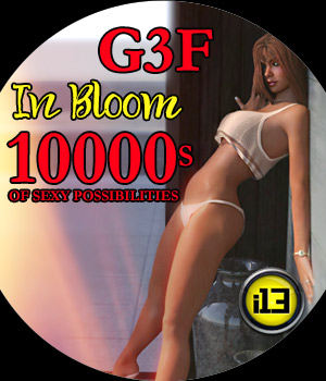 I13 iN BLOOM for G3F 3D Figure Assets ironman13