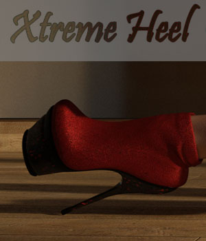 Xtreme heel for G2F 3D Figure Assets curtisdway