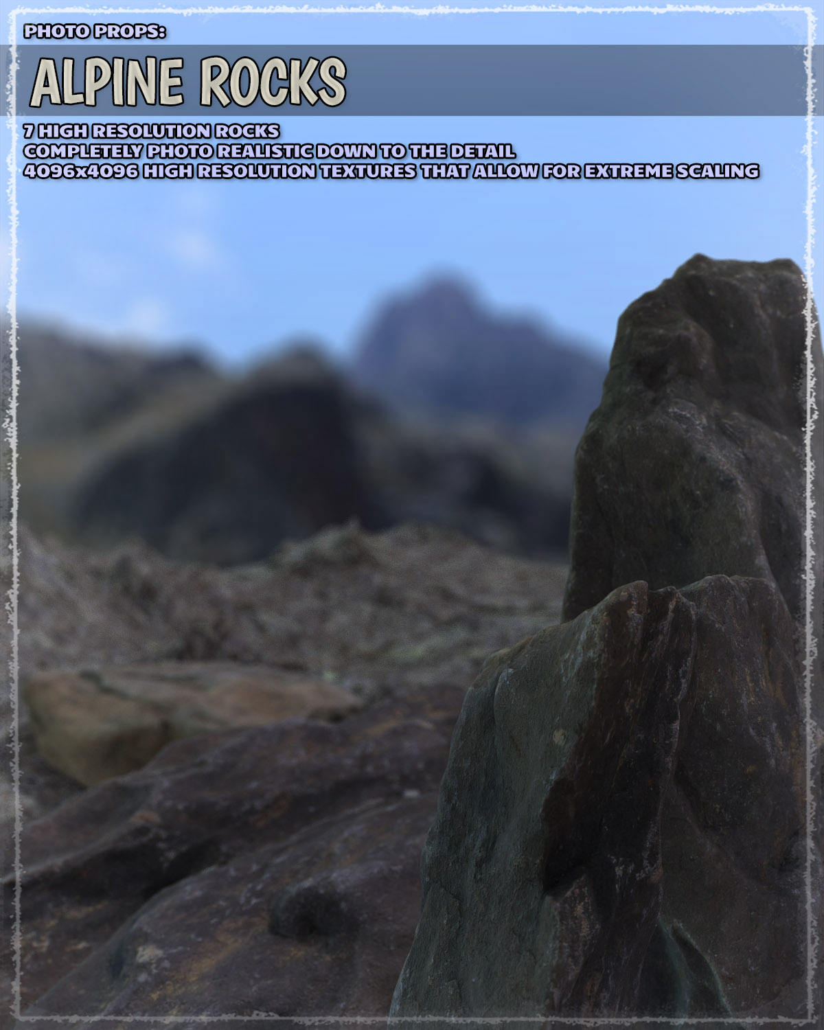 Photo Props: Alpine Rocks by ShaaraMuse3D