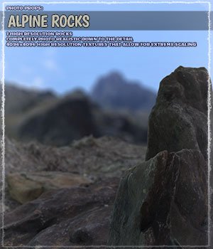 Photo Props: Alpine Rocks 3D Models ShaaraMuse3D
