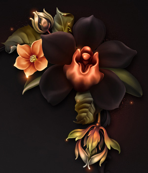 Moonbeam's Macabre Orchids 2D Graphics Merchant Resources moonbeam1212