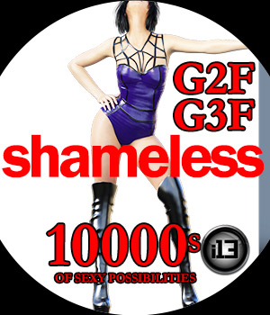 i13 SHAMELESS Pose Collection for G2F/G3F 3D Figure Assets ironman13