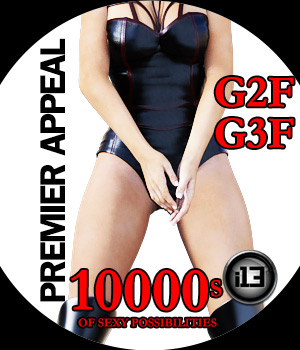 i13 PREMIER APPEAL Pose Collection for G2F/G3F 3D Figure Assets ironman13