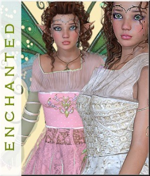 AM:Enchanted- 8 Sets for Princess Dress 3D Figure Assets LUNA3D