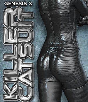 Exnem Killer Catsuit for G3 3D Figure Assets exnem