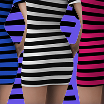 X7 Materials (horizontal stripes) For LBD by outoftouch image 1