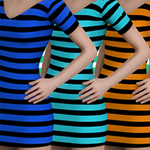 X7 Materials (horizontal stripes) For LBD by outoftouch image 2