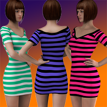 X7 Materials (horizontal stripes) For LBD by outoftouch image 3