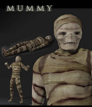Mummy 3D Figure Essentials 3D Models shawnaloroc
