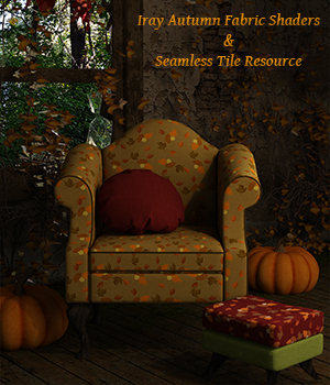 Iray Autumn Fabric Shaders And Seamless Tiles - Merchant Resource 2D Graphics 3D Figure Assets Merchant Resources fictionalbookshelf