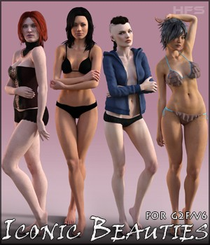 HFS Iconic Beauties for V6 3D Figure Assets DarioFish
