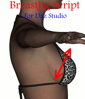 BreastJig Script for DazStudio 3D Software : Poser : Daz Studio : iClone lola69