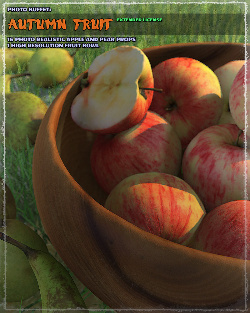 Photo Buffet: Autumn Fruit - Extended Licence by ShaaraMuse3D