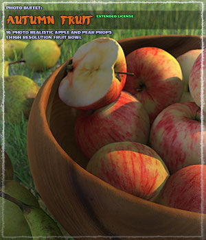 Photo Buffet: Autumn Fruit - Extended Licence 3D Models Gaming Extended Licenses ShaaraMuse3D