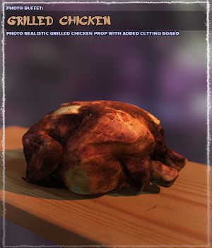 Photo Buffet: Grilled Chicken 3D Models ShaaraMuse3D