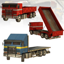 10 Low Rez Industrial Vehicles - Extended License image 2
