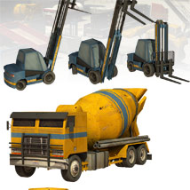 10 Low Rez Industrial Vehicles - Extended License image 3