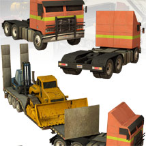 10 Low Rez Industrial Vehicles - Extended License image 6