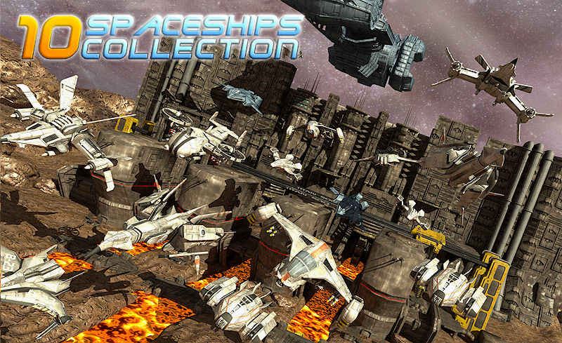 10 Spaceships Collection - Extended License
