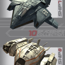 10 Spaceships Collection - Extended License image 4
