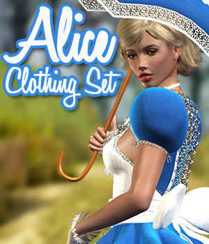 Alice Clothing Set V4 - Extended License 3D Figure Assets powerage