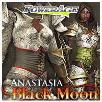 Anastasia: Black Moon - Extended License 3D Figure Assets 3D Models Extended Licenses powerage