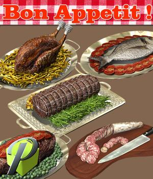 Bon Appetit! - Extended License 3D Models powerage