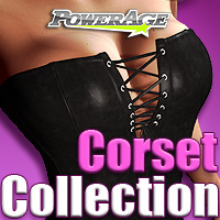 Corset Collection - Extended License 3D Figure Assets powerage