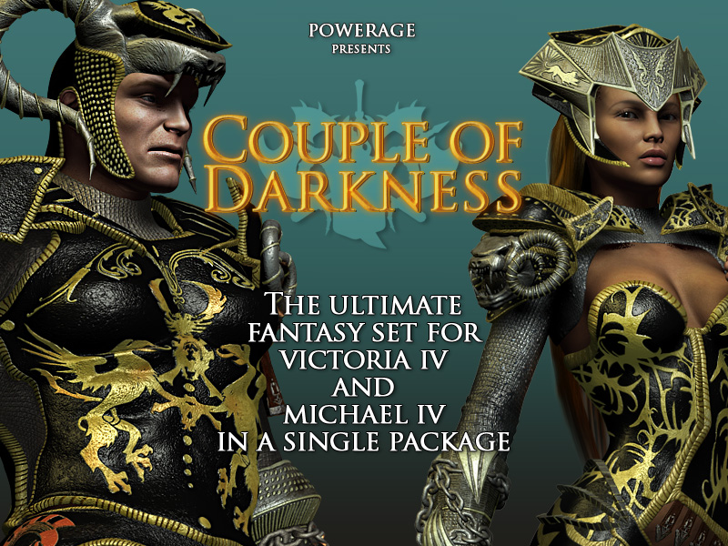 Couple Of Darkness for Victoria 4 & Michael 4 - Extended License