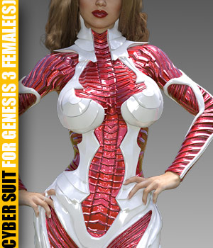 Cyber Suit for G3 female(s) - Extended License 3D Figure Assets Extended Licenses powerage