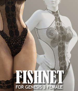 Fishnet for G3 female(s) - Extended License 3D Figure Assets Extended Licenses powerage