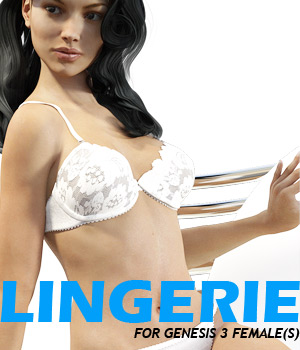 Lingerie for G3 female(s) - Extended License 3D Figure Assets Extended Licenses powerage