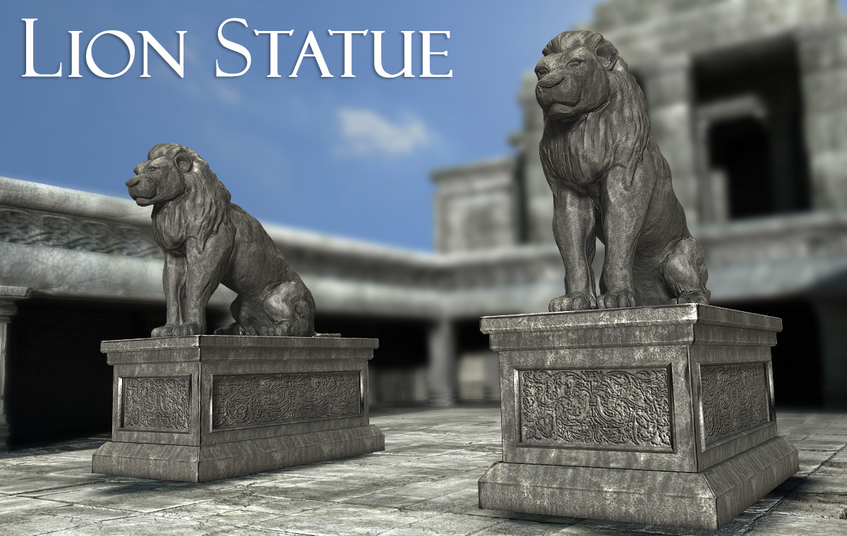 Lion Statue - Extended License by powerage