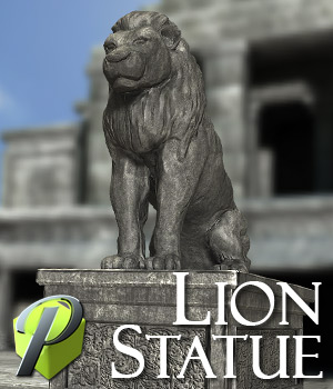Lion Statue - Extended License 3D Models Gaming Extended Licenses powerage