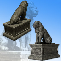 Lion Statue - Extended License image 1