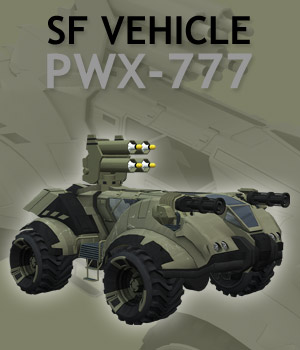 SF vehicle PWX-777 - Extended License 3D Models powerage