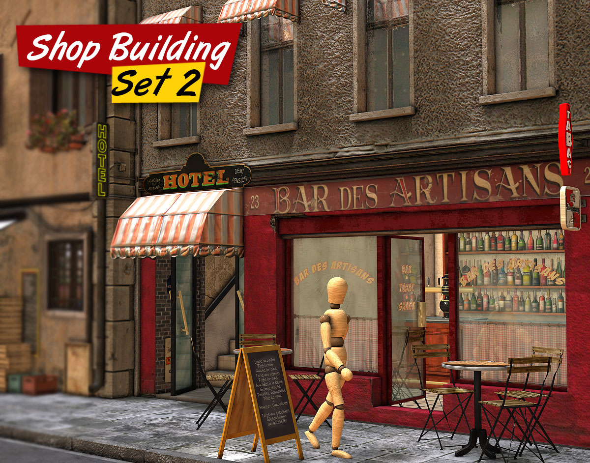 Shop Building Set 2 - Extended License
