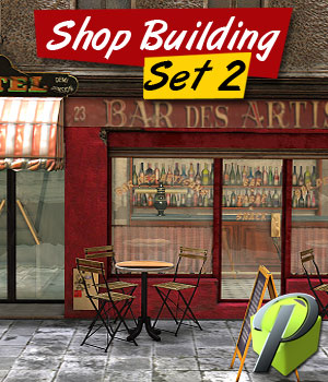 Shop Building Set 2 - Extended License 3D Models Extended Licenses powerage