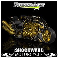 SHOCKWAVE- motorcycle - Extended License 3D Figure Assets 3D Models Extended Licenses powerage
