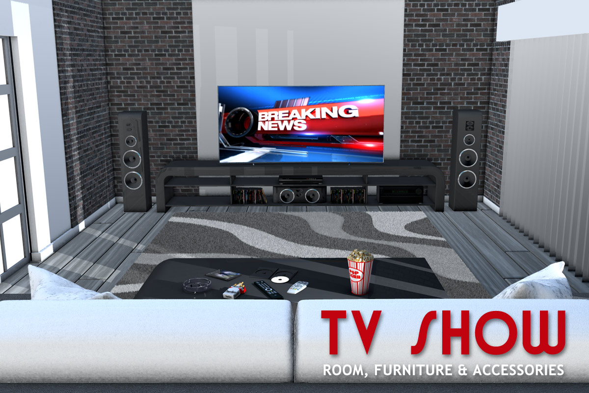 TV SHOW room furniture and accessories - Extended License by powerage