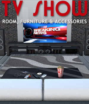 TV SHOW room furniture and accessories - Extended License 3D Models Extended Licenses powerage