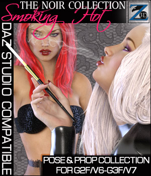 Z Smoking Hot - Noir Collection - G2F/V6 - G3F/V7 3D Figure Assets 3D Models Zeddicuss