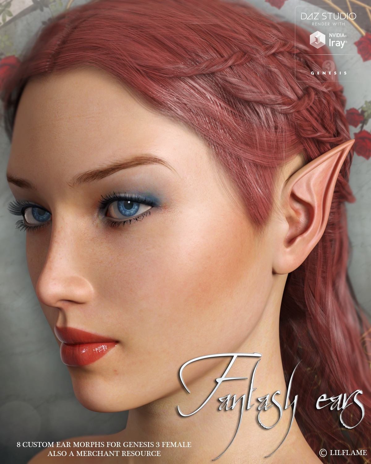LF's Fantasy Ears for Genesis 3 Female by lilflame