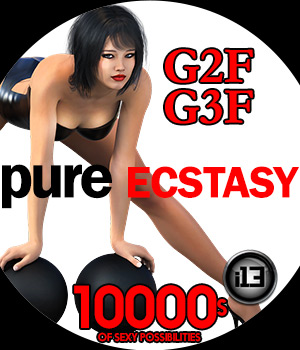 i13 PURE ECSTASY Pose Collection for G2F/G3F 3D Figure Assets ironman13