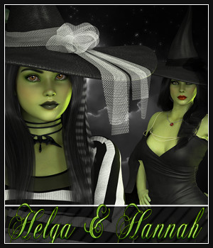 SV7 Helga and Hannah 3D Figure Essentials Seven