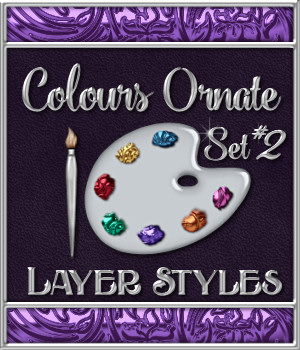 Bling! Colours Ornate Set #2 Layer Styles  2D Graphics Merchant Resources fractalartist01