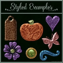 Bling! Colours Ornate Set #2 Layer Styles  image 1