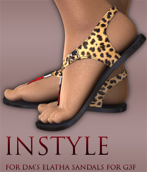 InStyle - DM's Elatha Sandals for Genesis 3 Female(s) 3D Figure Assets -Valkyrie-