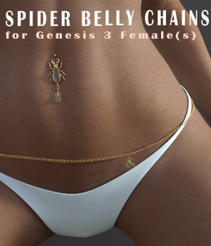 Spider-BellyChain Accesories for G3 3D Figure Assets xtrart-3d
