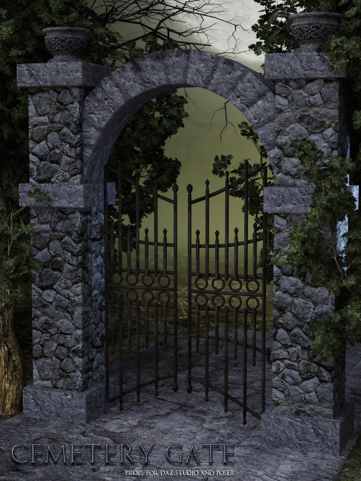 Cemetery Gate by lilflame